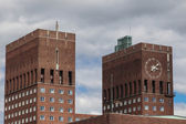 Towers on City Hall in Oslo — Photo