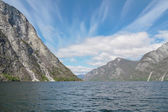 The mountains on the Sognefjord - Norway's largest fjord — ストック写真