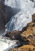 Waterfall Kjosfossen in Norway — ストック写真