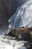 Waterfall Kjosfossen in Norway — Stock Photo