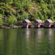 Stock Photo: Cottages near water