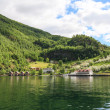 Stock Photo: Waterfront town of Flam, Norway