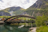 Bridge on the fjord , Norway — ストック写真