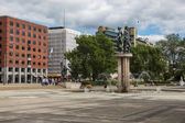 The area in front of the Town Hall, Oslo — ストック写真