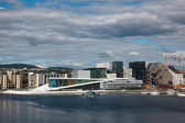 View of the opera house in Oslo — Stockfoto