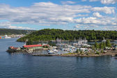 Harbor for yachts and boats in the Oslo Fjord — ストック写真