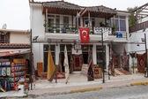 Shoppa av turkiska mattor, kas — Stockfoto