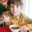 The boy in asian restaurant — Stock Photo #42849617