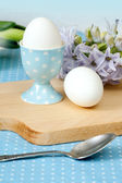 Eggs and hyacinth truss — Stock Photo