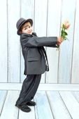 Boy in a stylish suit — Stock Photo