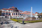 The fountain on square in Sopot — Stock Photo