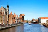Vistula River in Gdansk , Poland — Stock Photo