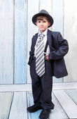 Boy stands in an elegant suit — Stock Photo