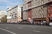 Crowd meets a cortege with fire of 2014 Olympic Games — Stockfoto