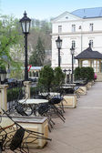 Empty cafe in Karlovy Vary — Stock Photo