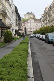 Sadova street in Karlovy Vary — Stock Photo
