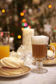 Christmas festive breakfast — Stock Photo