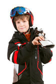 Boy skier — Stock Photo