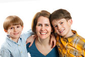 Woman with two boys — Stock Photo