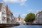 Channel in Brugge — Stock Photo