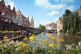 Quay of Dijver cannel — Foto Stock