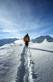 Man in Alps — Stock Photo