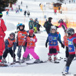 Ski instructor with team of children — Stock Photo #51737911