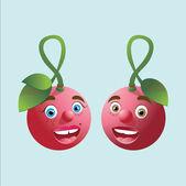 Sweet cherry, cute cherry — 图库矢量图片