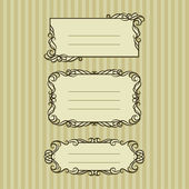 Three ornate frame for your content — Stock Vector
