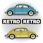 Concept retro cars — Stock Vector