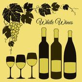 赤ワインのセット — ストックベクタ