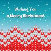 Knit merry Christmass postcard — Stock Vector
