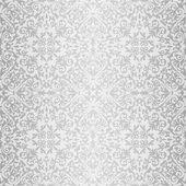 Silver baroque bright pattern — Stockvektor