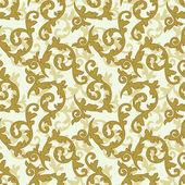 Golden baroque pattern — Stock Vector