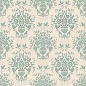 Blue baroque bright pattern — Stockvektor