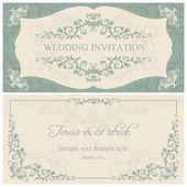 Барокко Свадебные приглашения, коричневый — Cтоковый вектор