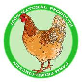 Brown broody chicken — Stock Vector