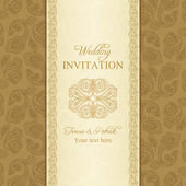 Turkish cucumber wedding invitation, gold — Stock Vector