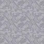 Gray baroque pattern — Stock Vector