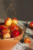 Lemonade and cherries in sunlight — Foto de Stock