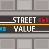 Street value, financial concept — Stok Vektör