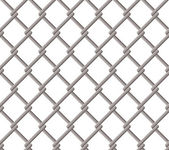 Wire fence seamless pattern, isolated on white background — Stock Vector