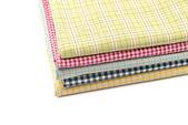 Pile of colored fabrics. — Stock Photo