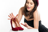 Young Woman Wanting Shoes — Stock Photo