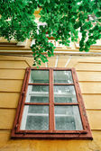 Old colourful house window — Stock Photo