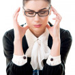 Stressed businesswoman with headache — Stock Photo #43138539