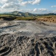 Amazing muddy volcano phenomenon — Stock Photo
