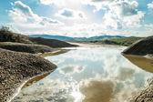 Small rain water reservoir — Stock Photo