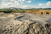 Amazing scenery at Muddy Volcanoes Romania — Stock Photo