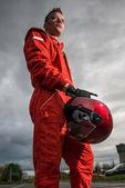 Formula 1 pilot — Stock Photo